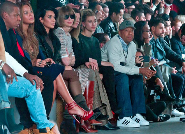 Jay-Z-Beyonce-Kim-Kardashian-Anna-Wintour-and-Russell-Simmons-Kanye-West-NYFW-show